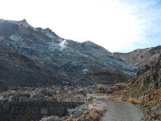 Steam vents along the Sugamori trail