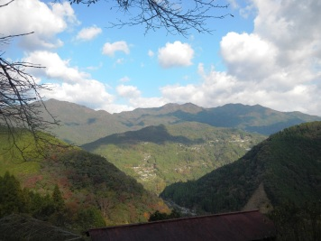 View from the Watanabe house, looking over the valley