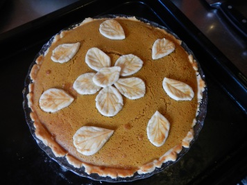 One of the pumpkin pies I made with Tomoko
