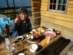Mr Watanabe at our lunchtime BBQ party