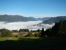 Beautiful unkai - sea of clouds - from the Watanabe farm