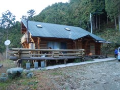 The Watanabe's newer log house, which is also used as a minshuku and their lunch spot