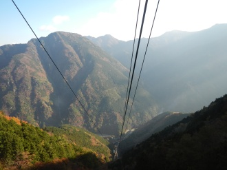 Looking back down the ropeway