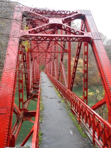 Old bridge in Taishaku Gorge