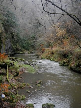 Stunning even in the eerie gloom: Taishaku Gorge