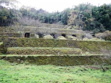 Remains of the old smelting plant at Iwami Ginzan silver mine