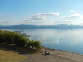 Glorious weather over Lake Shinji (Matsue, Shimane)