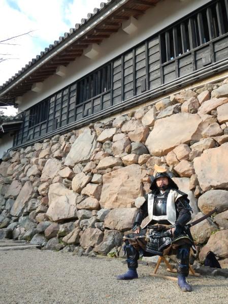 Warrior at Matsue Castle