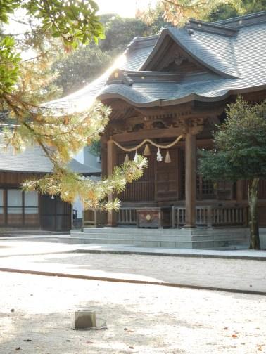 Sunlit shrine in Matsue
