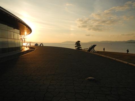 The Shimane Art Museum, on the shores of Lake Shinji in Matsue