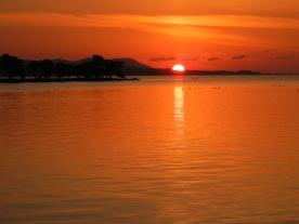 Amber evening (Lake Shinji, Matsue)