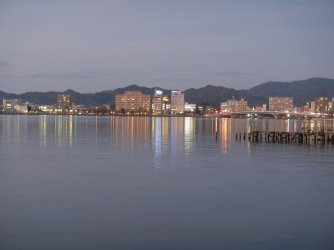 Twilight in Matsue city