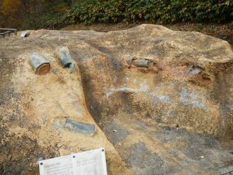 Yayoi-period copper bells found in Unnan were unearthed because they planned to build a road through the area