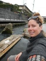 Free riverside footbath - Tamatsukuri onsen, Shimane