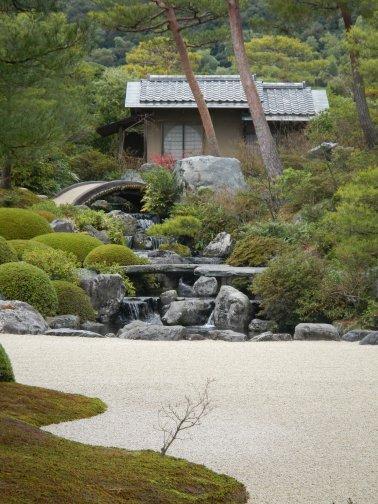 Pretty waterfall at Adachi Museum of Art