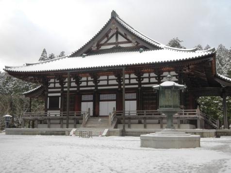 Temple building in Koyasan