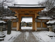 Temple gate and beyond (Koya)