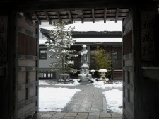 Looking in (Koya temple gate)