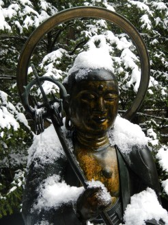 One of the keepers of Kobo Daishi's Mausoleum area