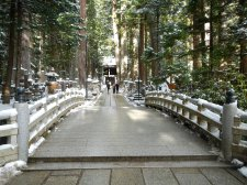 The entrance to the sacred area of Kobo Daishi's Mausoleum (Okunoin, Koya)
