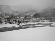 Bridge over the river Shirakawa