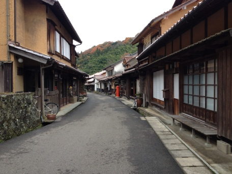 Quaint back streets of Iwami that form part of the World Heritage area, along with the silver mine