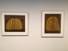 Original paintings by Yayoi Kusama that later inspired a well-known sculpture on Naoshima Island