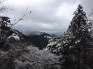 Winter scenery from the hills in Koya