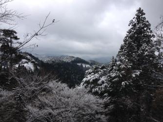 Winter scenery from the hills in Koya