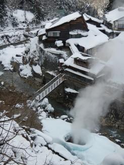 Jigokudani onsen source