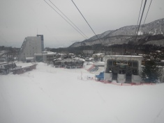 Looking back on the ropeway station
