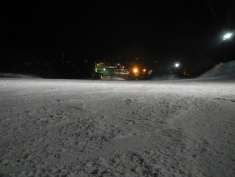Looking down the main nighter slope