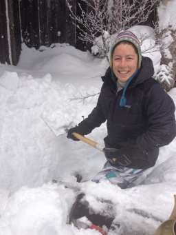 Time to clear some snow from around the onsen