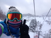 New Year's Day: First on the lift!