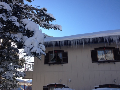 Precarious icicles