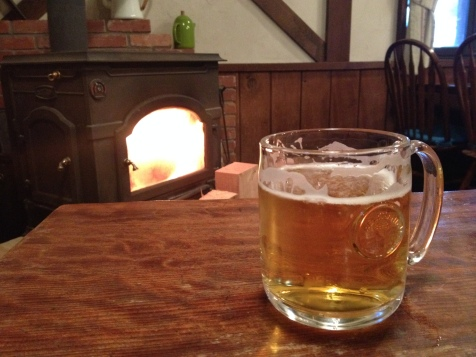Beer o'clock by the fire