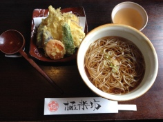 Delicious soba lunch