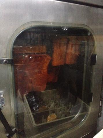 The smoking machine at the lodge