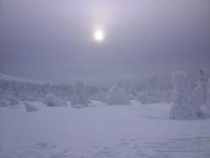 Eerie atmosphere at the summit