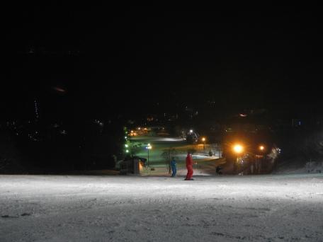 Night boarding (Zao, Yamagata)