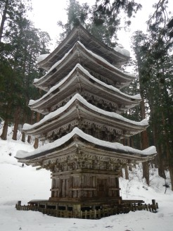 Five-story pagoda at Haguro-san (Yamagata pref)