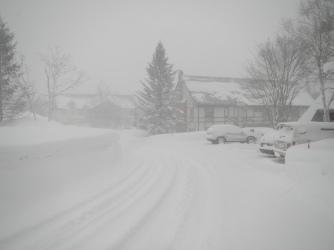 Good morning heavy snowfall