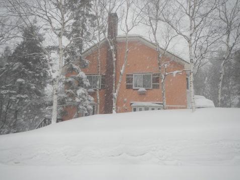 Mutti in the snow