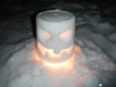 One of the lanterns I carved