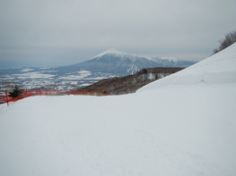 View over to 'one sided Fuji' from Appi