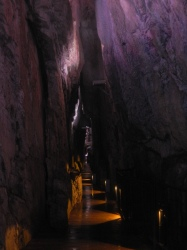 The long entrance cavern in Ryusendo (Iwate pref)
