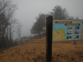 A lookout for part of the gorgeous Rikuchi coastline in Iwate prefecture. Shame about the weather!