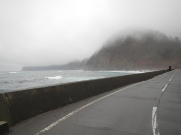 Foggy weather along the Iwate coastline
