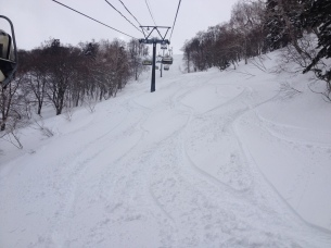 All my tracks under the lift